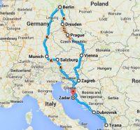 Turi i Europes qendrore me autobuz 4-12 Prill