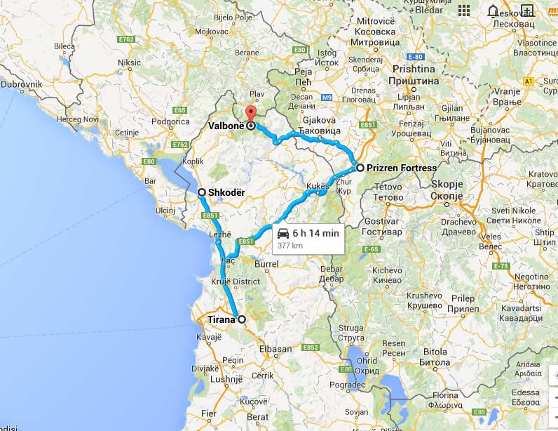 Albania Tour Itinerary